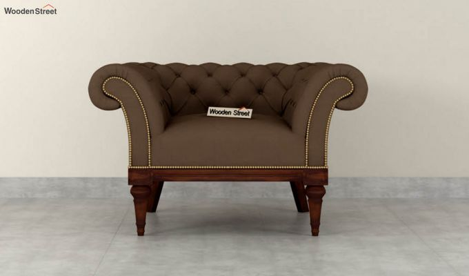 Swanson 2 Seater Sofa (Fabric, Classic Brown)-6