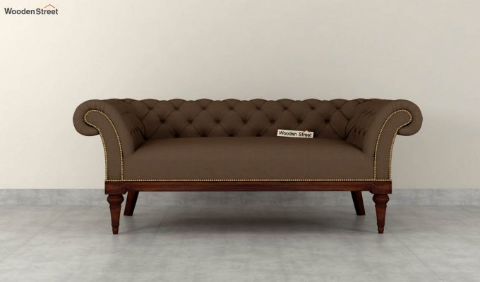 Swanson 2 Seater Sofa (Fabric, Classic Brown)-3