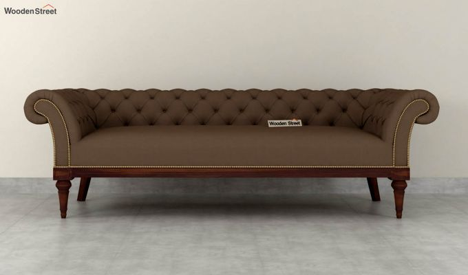 Swanson 2 Seater Sofa (Fabric, Classic Brown)-8