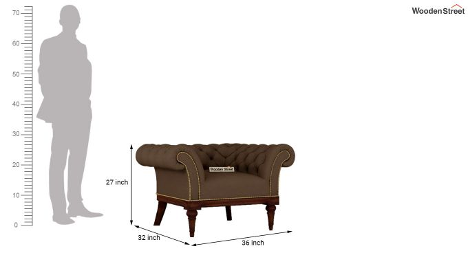 Swanson 2 Seater Sofa (Fabric, Classic Brown)-9
