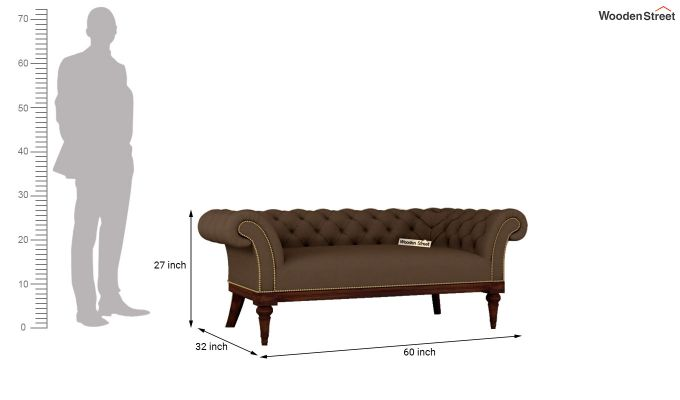 Swanson 2 Seater Sofa (Fabric, Classic Brown)-10