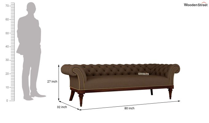 Swanson 2 Seater Sofa (Fabric, Classic Brown)-11