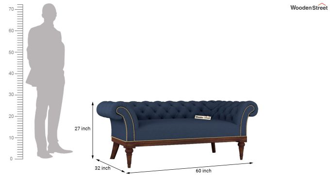 Swanson 2 Seater Sofa (Fabric, Indigo Ink)-5