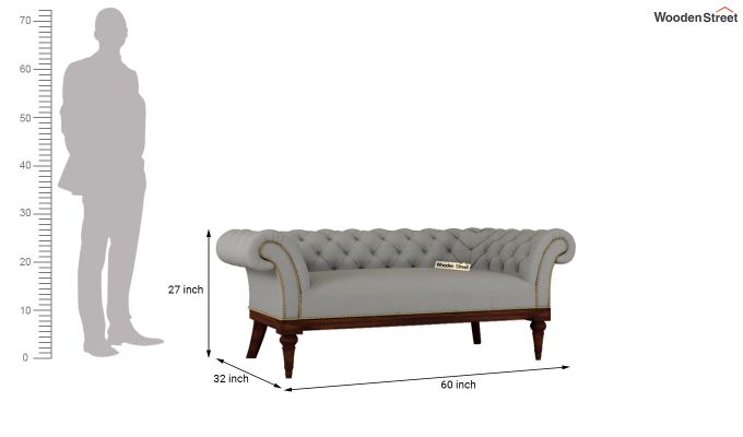 Swanson 2 Seater Sofa (Fabric, Warm Grey)-10