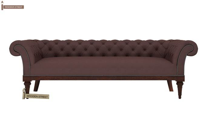 Swanson Chesterfield Sofa (Fabric, Classic Brown)-2