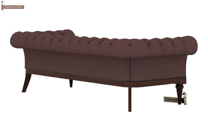 Swanson Chesterfield Sofa (Fabric, Classic Brown)-4