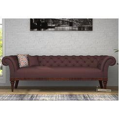 Swanson Chesterfield Sofa (Fabric, Classic Brown)