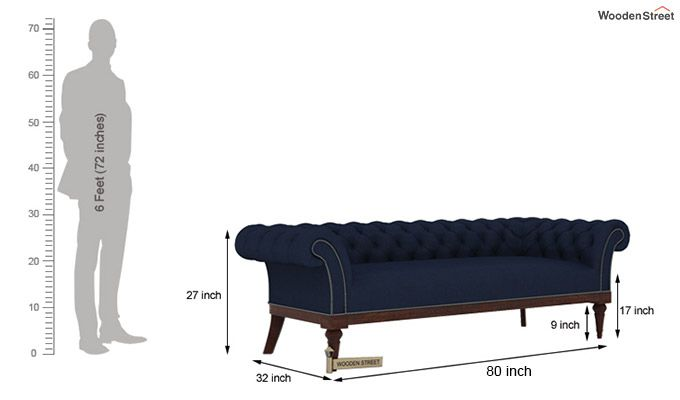 Swanson 3+1+1 Fabric Sofa Set  (Indigo Ink)-6