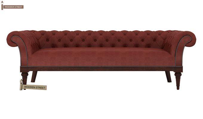 Swanson Chesterfield Sofa (Leatherette, Burnt Umber)-2