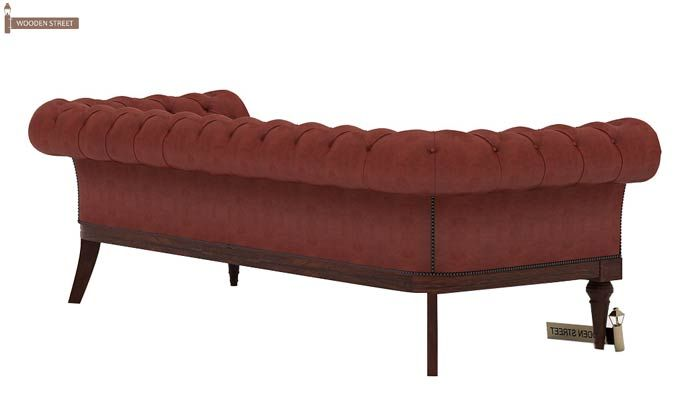 Swanson Chesterfield Sofa (Leatherette, Burnt Umber)-4