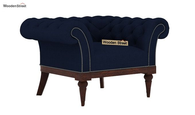 Swanson 1 Seater Sofa (Fabric, Indigo Ink)-2