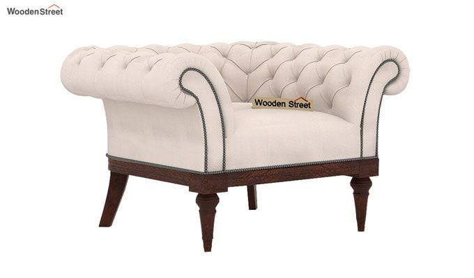 Swanson 1 Seater Sofa (Fabric, Ivory Nude)-1