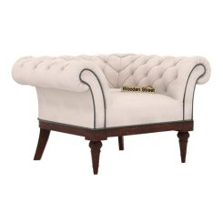 Swanson 1 Seater Sofa (Fabric, Ivory Nude)