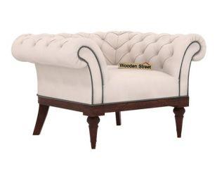 Swanson 1 Seater Sofa (Fabric, Ivory Nude)