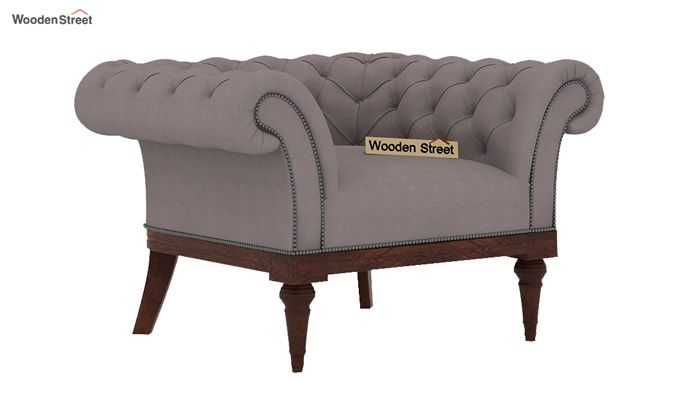 Swanson 1 Seater Sofa (Fabric, Warm Grey)-1