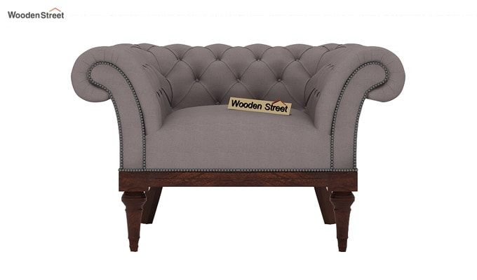 Swanson 1 Seater Sofa (Fabric, Warm Grey)-2