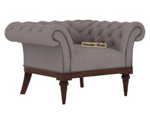 Swanson 1 Seater Sofa (Fabric, Warm Grey)