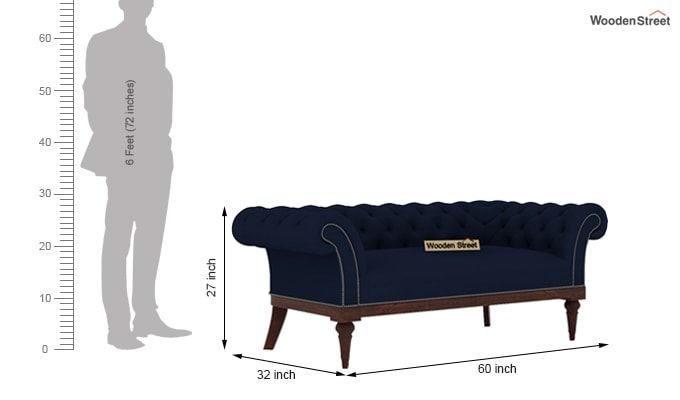 Swanson 2 Seater Sofa (Fabric, Indigo Ink)-3