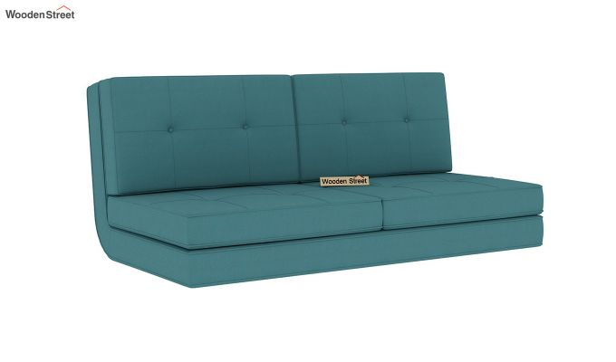 Coleman Futon Bed (Two Seater, Aqua Marine)-3