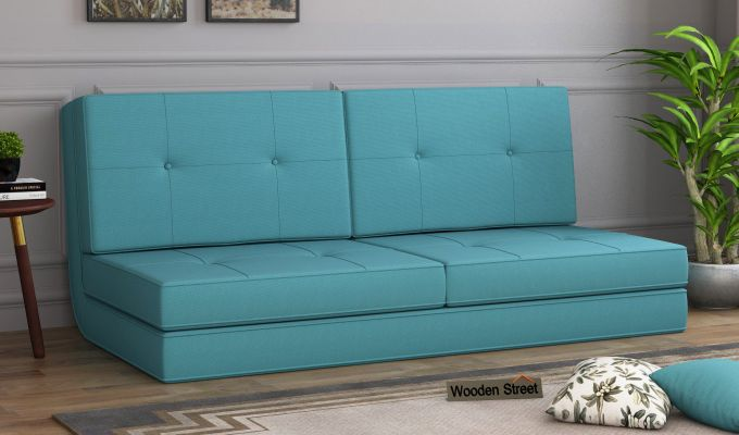 Coleman Futon Bed (Two Seater, Aqua Marine)-1