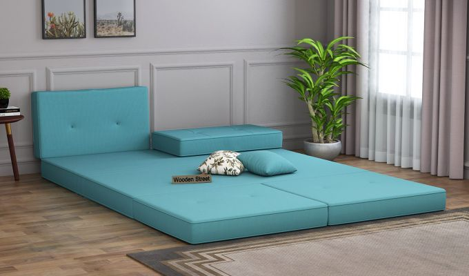 Coleman Futon Bed (Two Seater, Aqua Marine)-2