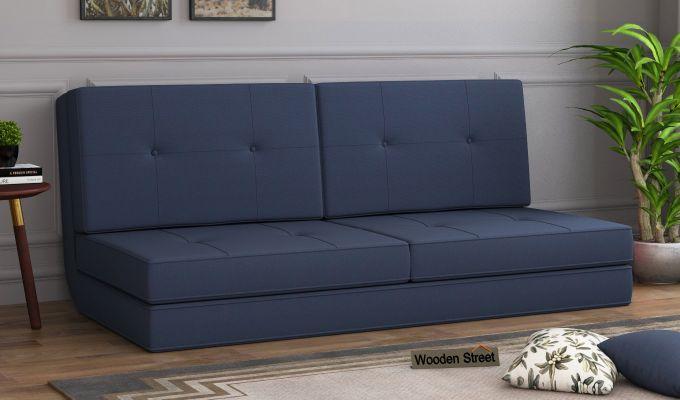 Coleman Futon Bed (Two Seater, Indigo Ink)-1