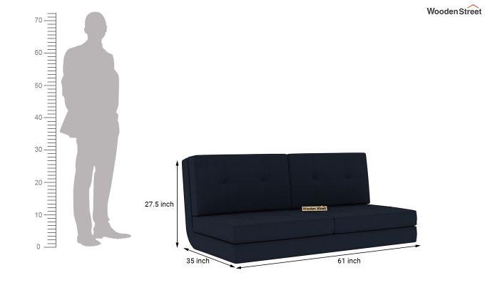 Coleman Futon Bed (Two Seater, Indigo Ink)-11