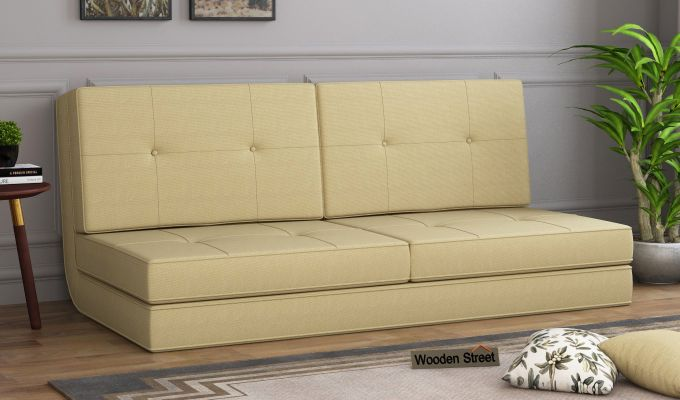Coleman Futon Bed (Two Seater, Irish Cream)-1