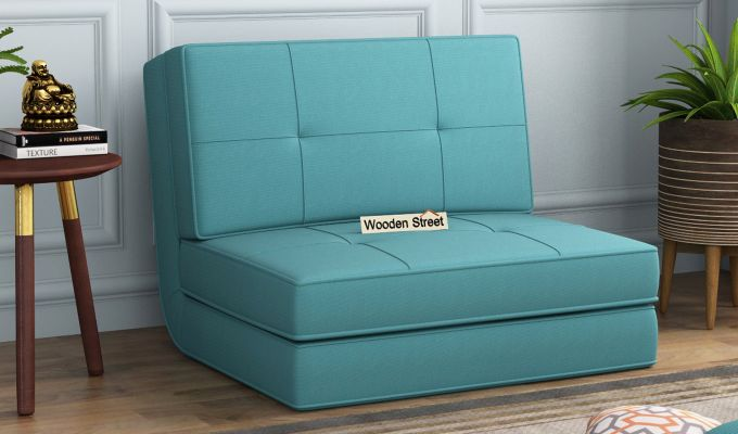 Coleman Single Futon Bed (Aqua Marine)-1