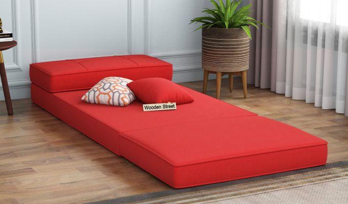 Coleman Single Futon Bed (Dusky Rose)-2