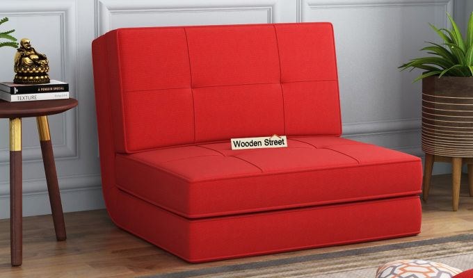 Coleman Single Futon Bed (Dusky Rose)-1