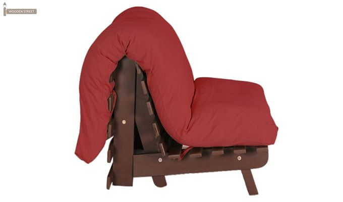 Hanover Single Seater Futon (Red Finish)-5