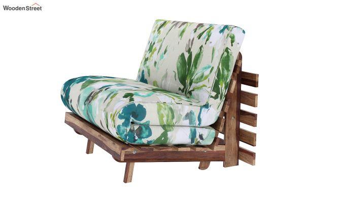 Jovi Single Futon Bed (Aqua Flower)-2