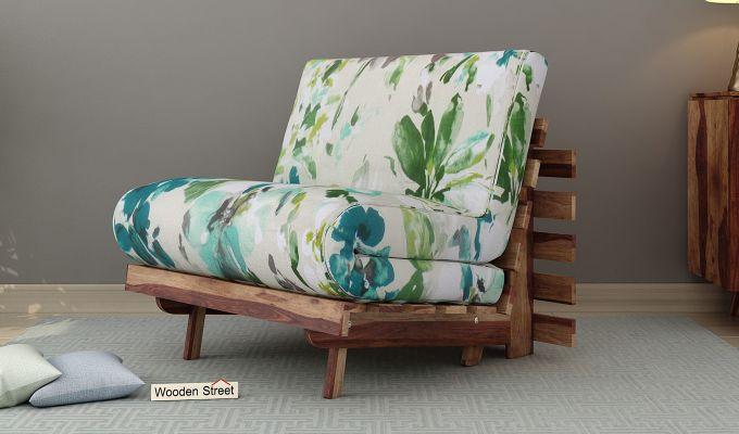 Jovi Single Futon Bed (Aqua Flower)-1