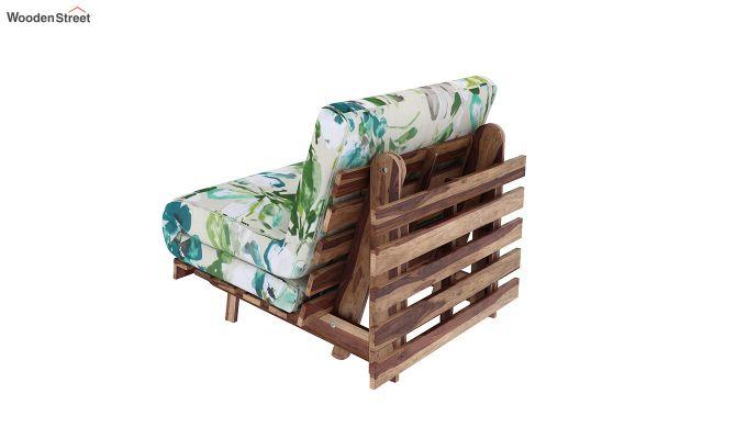 Jovi Single Futon Bed (Aqua Flower)-4