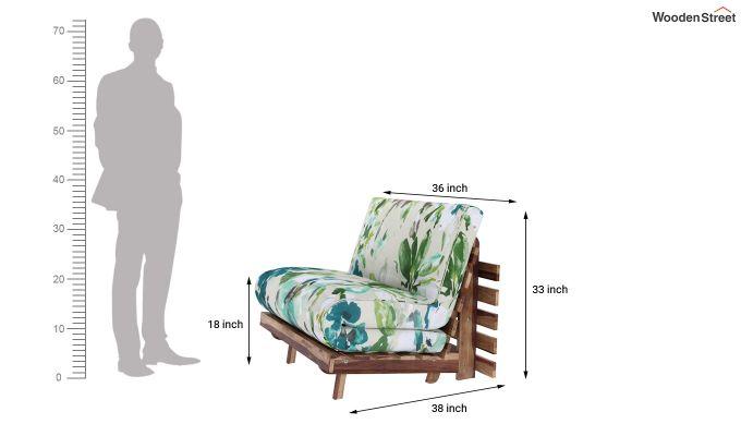 Jovi Single Futon Bed (Aqua Flower)-8