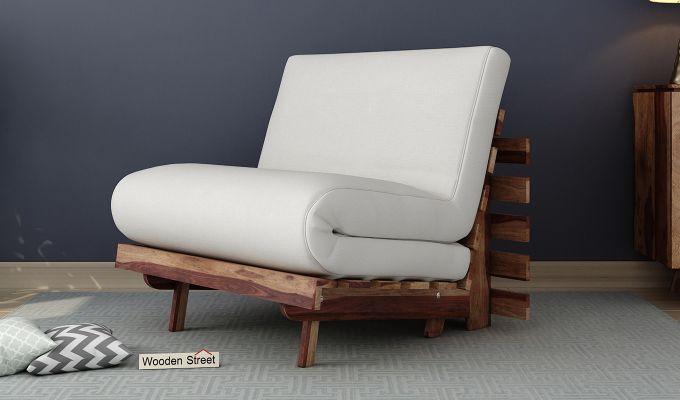 Jovi Single Futon Bed (Ivory Nude)-1