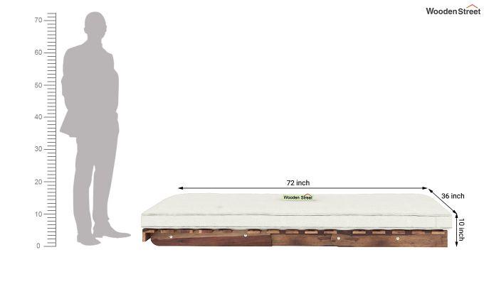 Jovi Single Futon Bed (Ivory Nude)-9
