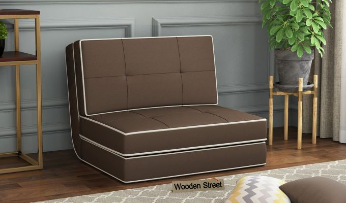 Winsley Fabric Sofa Cum Bed (Classic Brown)-1
