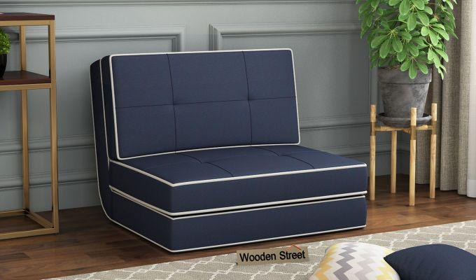 Winsley Fabric Sofa Cum Bed (Indigo Ink)-1
