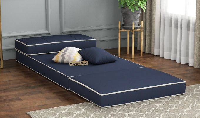 Winsley Fabric Sofa Cum Bed (Indigo Ink)-2