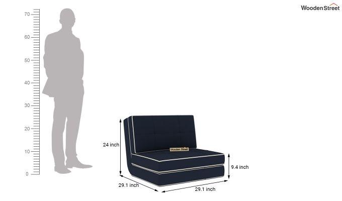 Winsley Fabric Sofa Cum Bed (Indigo Ink)-10