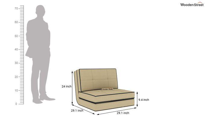 Winsley Fabric Sofa Cum Bed (Irish Cream)-10