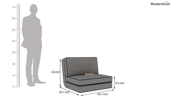 Winsley Fabric Sofa Cum Bed (Warm Grey)-10