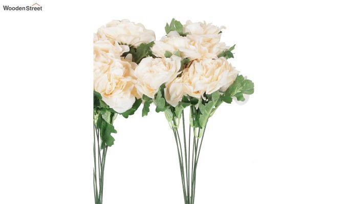 Camelia Peach Flower Bunch Set of 2-3