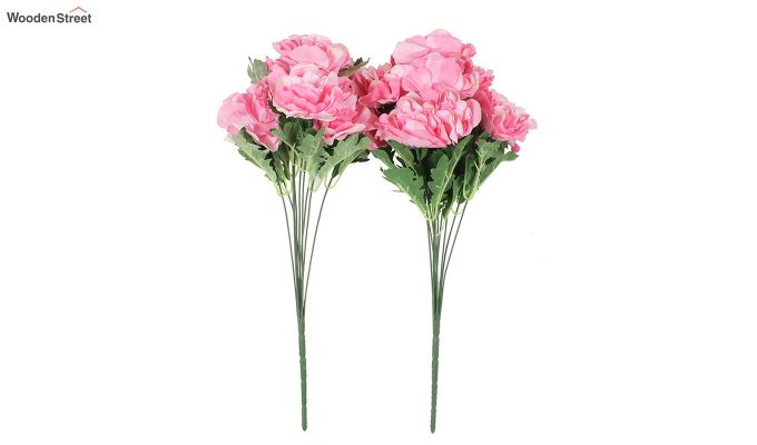 Camelia Pink Flower Bunch Set of 2-2