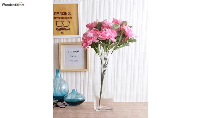 Camelia Pink Flower Bunch Set of 2-1