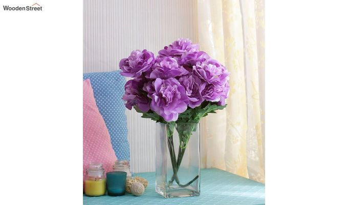 Camelia Purple Flowers Set of 2-1