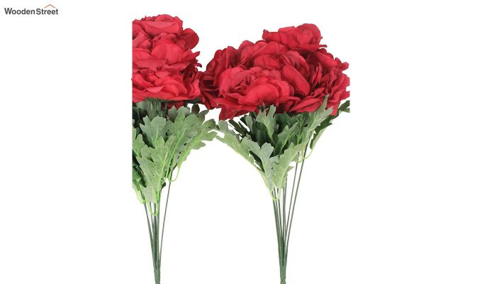 Camelia Red Flowers Bunch Set of 2-3