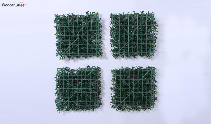 Decorative Green Plastic Artificial Eucalyptus Grass - Set of 4-5